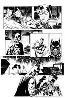 Catwoman P1 inks by Wes-StClaire