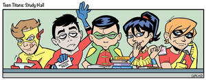 Teen Titans Study Hall by BillWalko