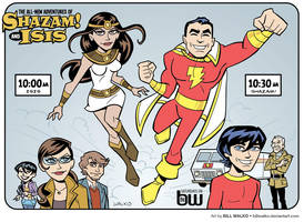 Shazam and Isis by BillWalko