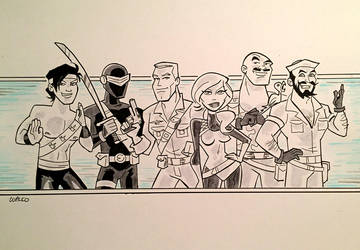 GI Joe - Inktober by BillWalko