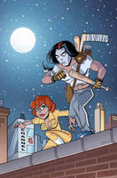 TMNT Casey and April by BillWalko