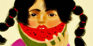 Yum Yum Watermellon by myikachu