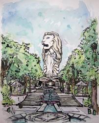 The Merlion Sentosa by LeftHandedMutant