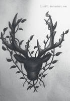Deer drawing - Tattoo by lyyy971