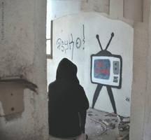 No Signal - street art by lyyy971
