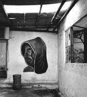 Man - Street art by lyyy971