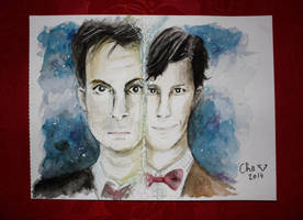 Doctor Who - Watercolor by Red-Cha