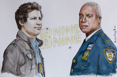 Brooklyn Nine Nine watercolors fanart by Red-Cha