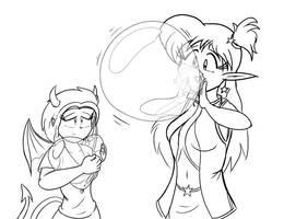 Yuri and Kei - Balloon time by Thiridian