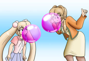 Blowing Bubbles with Mom by Thiridian