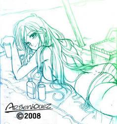 bikini girl by arseniquez