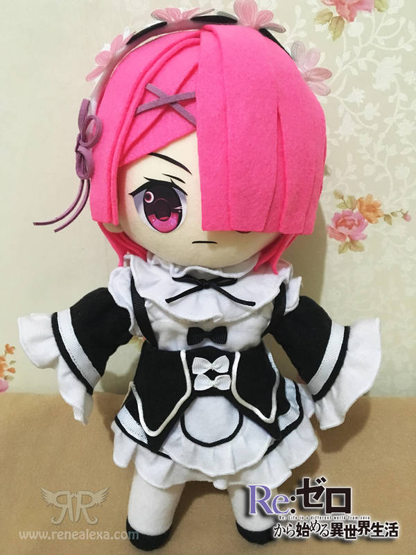 Rezero - Ram Plushie by renealexa-plushie