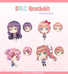 Doki Doki Literature Club - Double Sided Keychains by renealexa-plushie