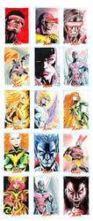 X-men Archives sketchcards by newtonb