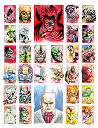 Spider-man sketchcards 2 by newtonb