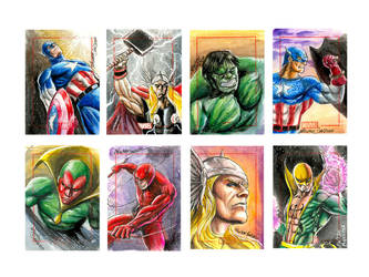 Marvel 70th sketchcard pack -1 by newtonb