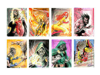 Marvel  70th Sketchcard pack-4 by newtonb
