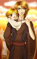 Anakin and Luke Skywalker by Yuki-mono