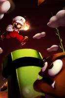 Flamepocalypse Mario by KendrickTu