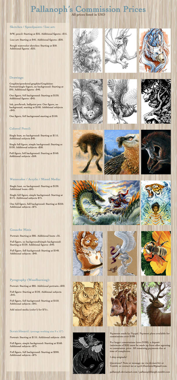 Commission Price List 2014 by pallanoph