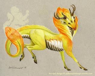 Lemon Plum Kirin by pallanoph