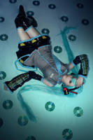 cosplay Miku from vocaloid 1 by Lucy-Dark-Dreams