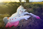 Cosplay kyubey from magical madoka by Lucy-Dark-Dreams