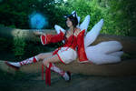 cosplay ahri from league of legends 2 by Lucy-Dark-Dreams