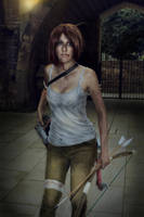 cosplay lara croft from tomb rider 2 by Lucy-Dark-Dreams
