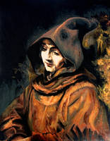 Titus as a Monk After Rembrandt by FrankHeilerArt