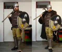 Viking with a luna and celestia theme by Gruntoks