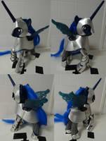 Princess luna robot toy with a half plate. by Gruntoks