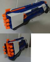 Nerf gun Rough cut, zombie apocalypse style WIP by Gruntoks