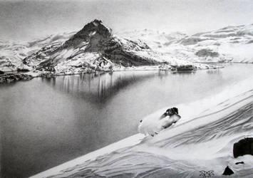 Spring ski by cloudmilk
