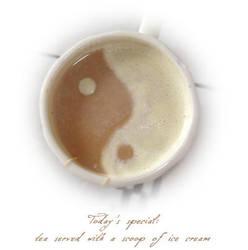 Tea + ice cream by dRea-L-m
