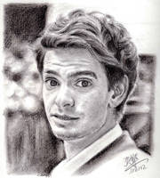 Pencil portrait of Andrew Garfield by chaseroflight