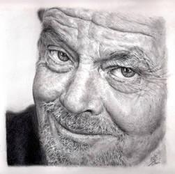 Pencil Portrait of Jack Nicolson by chaseroflight