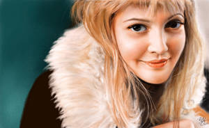 IPad finger painting of Drew Barrymore by chaseroflight