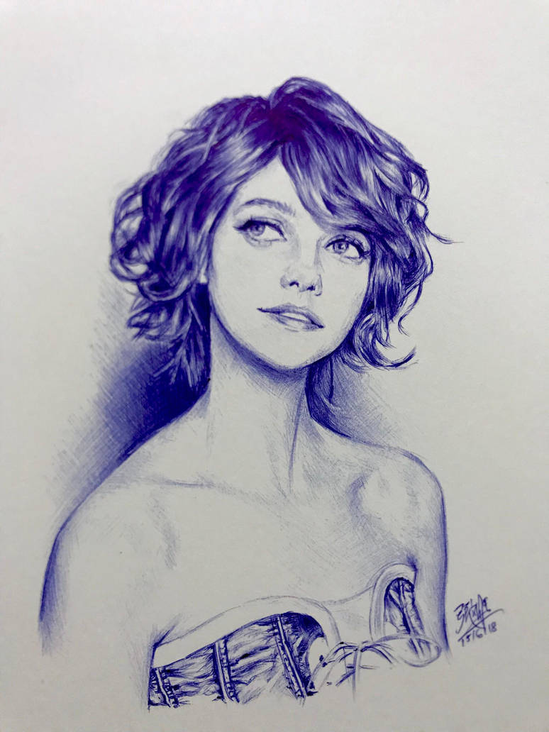 Ballpoint pen drawing by chaseroflight