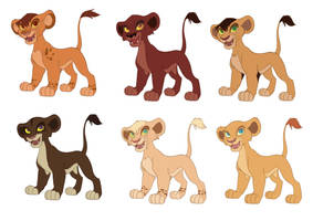 Lion King Cub Adoptables (OPEN 2/6) by albinoWolf58