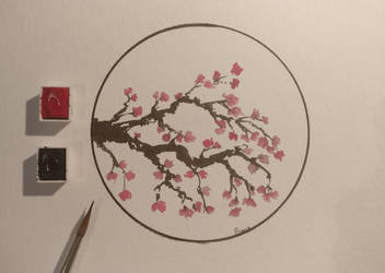Japonese style cherry blossom by archiwyzard