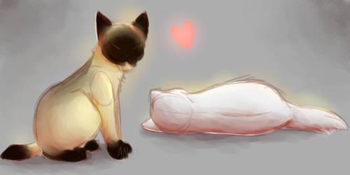 Cat paintings by Fallerium