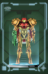 Metroid Poster - Power Suit by HellGab