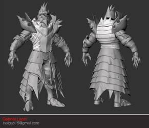 Lagiacrus Armor Set - 3D Sculpt by HellGab