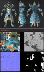 Lagiacrus Armor Set - Final by HellGab
