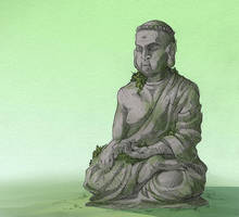 Stone Buddha by Kium