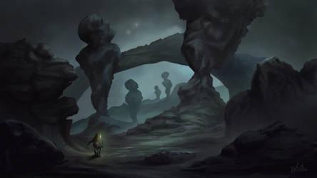 The Titan's Graveyard/ Landscape Challenge by Pitsh