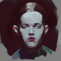 Fashion Model Head Sketch by mikecreighton