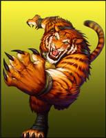 BurstOnline - War Mage - Tiger Striking Paw by madmagnus