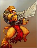 BurstOnline - War Mage - Lionkin Champion by madmagnus